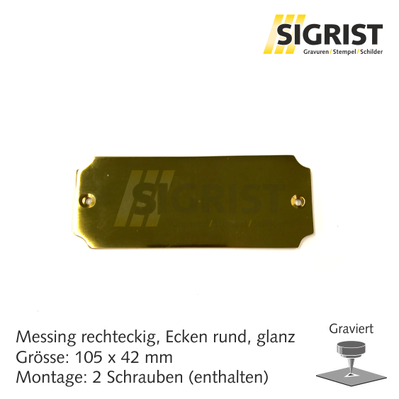 Zierschild 21812, Messing