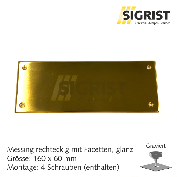 Zierschild 22094, Messing