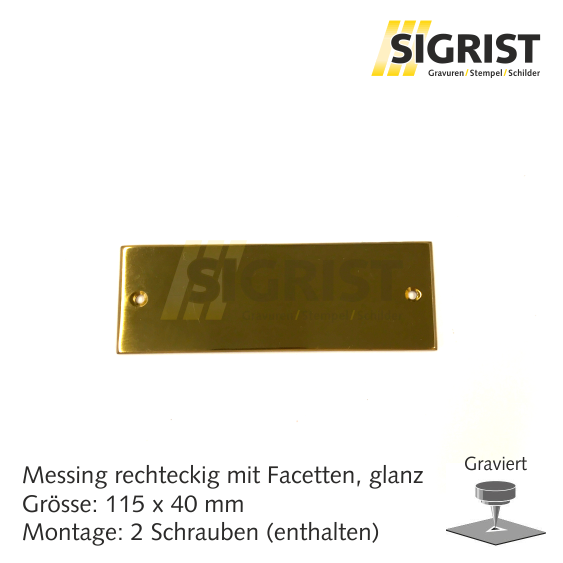 Zierschild 30085, Messing