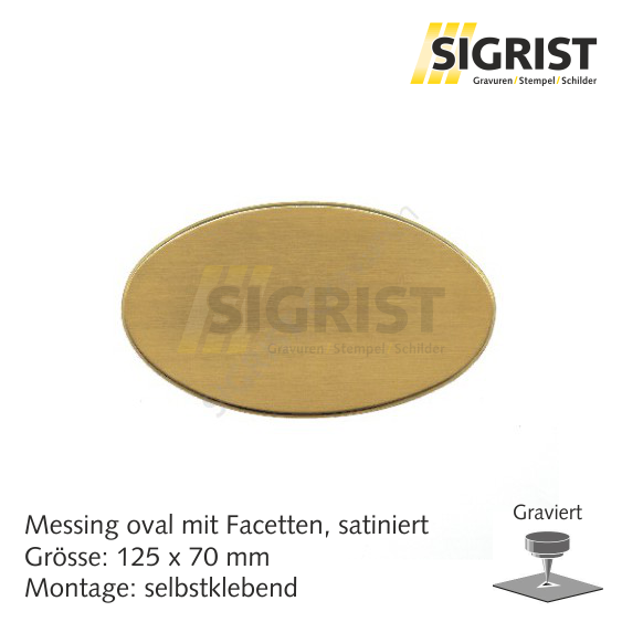 Zierschild 60212, Messing