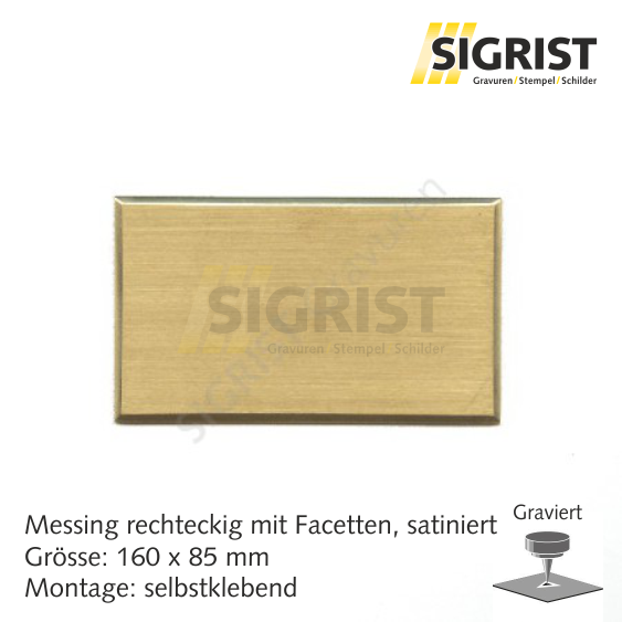 Zierschild 60221, Messing